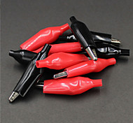 Test Alligator Clips Crocodile Clamp - Red + Black (Size L / 5 Pairs)