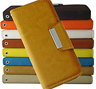 Fashion pattern Wallet Style PU Leather Full Body Case with Stand and Card Slot for iPhone 5C (Assorted Colors)