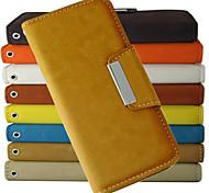 Недорогие -мода модель бумажник стиль PU кожаный чехол для всего тела с подставкой и слотом для карт iPhone 5с (ассорти цветов)