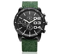 cheap -V6 Men's Wrist watch Quartz Casual Watch Fabric Band Charm Black Blue Red Green