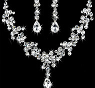 cheap -Women's Rhinestone Jewelry Set Earrings / Necklace - For Wedding / Party / Birthday