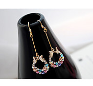 Stud Earrings Drop Earrings Crystal Rhinestone Alloy Rainbow Jewelry Party Daily Casual 2pcs