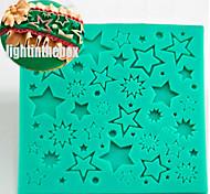 Звезда текстура зерно печать выпечка DIY силикон шоколад сахар торт плесень цвет случайный