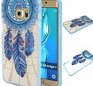 Blue Windbell Pattern TPU+PC Bumper Frame Protective Back Case for Samsung Galaxy S5/S6/S6 edge/S6 edge Plus