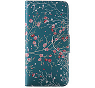For iPhone 8 iPhone 8 Plus iPhone 6 iPhone 6 Plus Case Cover Card Holder Wallet with Stand Flip Pattern Full Body Case Flower Hard PU