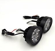 Недорогие -Новейший пара 12v супер свет водонепроницаемый мотоцикл светодиодные фары локомотив внимания Вспомогательная лампа зеркало заднего света