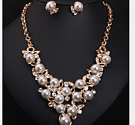 Women's Jewelry Set Cute Party Cute Style Fashion Party Special Occasion Anniversary Birthday Gift Pearl Imitation Pearl Rhinestone