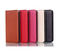 cheap -Simple and Noble Design High-quality Genuine Leather Case with Kickstand for Iphone5S
