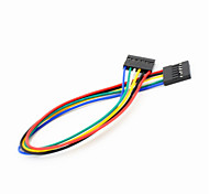 Dupont 6-Pin 2.54mm Female to Female Extension Wire Cable for Arduino-(20CM)