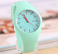 Women's Fashion Watch Casual Watch Quartz Rubber Band Black White Blue Red Orange Green Pink Purple Yellow Beige