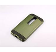 Для Кейс для Motorola Защита от удара Кейс для Задняя крышка Кейс для Армированный Твердый PC для Motorola MOTO G4 / Мото G4 Plus
