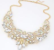 Недорогие -Жен. Заявление ожерелья Стразы Синтетические драгоценные камни Массивные украшения Мода Pоскошные ювелирные изделия европейский Бижутерия