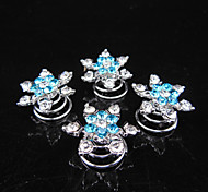 6pcs New Wedding Bridal Crystal Swirl Twist Hair Spin Pins Women Fashion Hair Jewelry Party Accessories