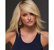 Недорогие -Парики из искусственных волос Прямой Естественный прямой плотность Без шапочки-основы Жен. Блондинка Карнавальный парик Парик для