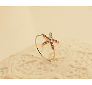 Fashion New Style Crystals Starfish Shape Ring Mermaid