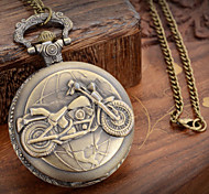 cheap -Men's Quartz Pocket Watch Casual Watch Metal Band Charm Bronze