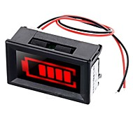 lumière rouge électrique quantité displayer w / alarme stroboscopique pour la batterie de stockage 12v plomb-acide