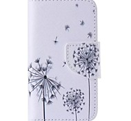 Black Dandelion Painted PU Phone Case for iphone4/4S iPhone Cases