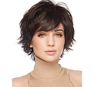 cheap -Synthetic Wig Curly With Bangs Side Part Brown Women's Capless Carnival Wig Halloween Wig Natural Wigs Short Synthetic Hair