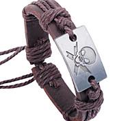 Недорогие -Муж. Браслет Кожаные браслеты Уникальный дизайн Для вечеринки Для офиса На каждый день Мода Из нескольких элементов Плетеный Кожаный Кожа
