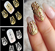 Панк - Стразы для ногтей - 10PCS - 2 - Металл - Пальцы рук