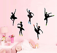 Ballet Cartoon Character Stickers Wall