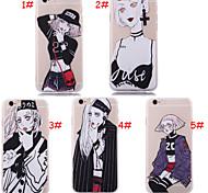 Недорогие -новый стиль личности девушки шелк рисунок задней крышки для iphone6 / iPhone 6s (ассорти цветов)