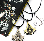 Jewelry Inspired by Assassin's Creed Connor Anime/ Video Games Cosplay Accessories Necklace Black / Yellow / Silver Alloy Male