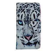 Недорогие -белый леопард модель головы случай всего тела с слотом для карт iphone 6 плюс / 6с плюс