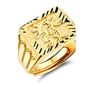 Недорогие -Муж. Классические кольца Мода Позолота Бижутерия Свадьба Для вечеринок Повседневные Спорт