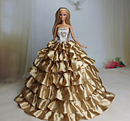 Недорогие -Вечеринка Платья Для Кукла Барби Кружево органза Платье Для Девичий игрушки куклы