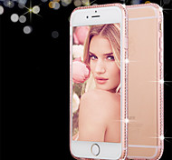 For iPhone 8 iPhone 8 Plus iPhone 6 iPhone 6 Plus Case Cover Rhinestone Transparent Back Cover Case Solid Color Soft TPU for iPhone 8