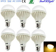 E26/E27 LED Globe Bulbs B 15 SMD 5630 700 lm Warm White 3000 K Decorative AC 220-240 V