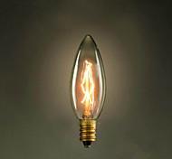 E14 40W 220V-240V C35 Candle Yellow Small Screw Edison Light Bulb