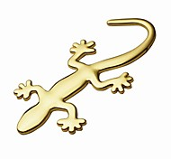 cheap -ZIQIAO 3D Pure Metal Gecko Stickers Personality Sticker Car Decoration