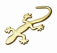 Недорогие -ziqiao 3d чистого металла геккон наклейки личность наклейка украшение автомобиля