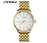 SINOBI Men's Wrist watch Quartz Water Resistant / Water Proof Sport Watch Rose Gold Plated Alloy Band Gold