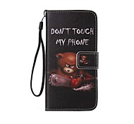 cheap -Chainsaw Bear Painted PU Phone Case for Galaxy Grand Prime G530/Xcover 3 G388F/Core Prime G360/J7/J5/J1