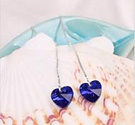Недорогие -В форме сердца Серьги-слезки Бижутерия Женский Сердце Свадьба Для вечеринок Повседневные Хрусталь Сплав 1 комплект