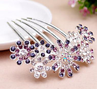 cheap -Women's Elegant Rhinestone Alloy Hair Comb Flower