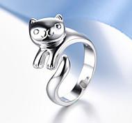 Недорогие -Муж. Жен. Кольца для пар Стерлинговое серебро Мода Свадьба Для вечеринок Повседневные Бижутерия