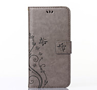 For Nokia Case Wallet / Card Holder / with Stand Case Full Body Case Butterfly Hard PU Leather Nokia Nokia Lumia 535