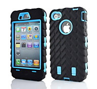 abordables -Funda Para iPhone 4/4S Apple Funda de Cuerpo Entero Suave Silicona para iPhone 4s/4
