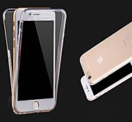 Front+Back 2 Pieces Super Flexible Soft TPU Transparent 360 Degree Full Touch Screen Cover Case for iPhone 6/6S Plus
