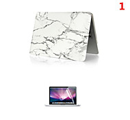 "cheap -Case for Macbook Pro 12"" Marble Plastic Material Luxury PVC MacBook Case with Screen Flim"