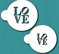 LOVE Sculpture Cookie Stencil, Cupcake Stencil Mold,Stencil for cake decorating,Free shipping stencil Cake Tools ST-680