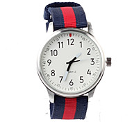 cheap -Women's Fashion Watch Quartz Water Resistant / Water Proof Fabric Band Charm Multi-Colored