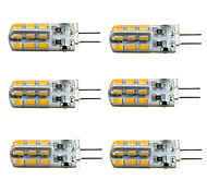Недорогие -1,5 Вт 100-150 lm G4 LED лампы типа Корн T 24 светодиоды SMD 2835 Диммируемая Тёплый белый Холодный белый DC 12V
