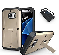 cheap -Case For Samsung Galaxy Samsung Galaxy Case Shockproof with Stand Back Cover Armor PC for S7 S6