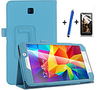 Top Quality Stand PU Leather Cover Case for Samsung Galaxy Tab 4 7.0 T230 Tablet With Free Screen Protector+ Pen